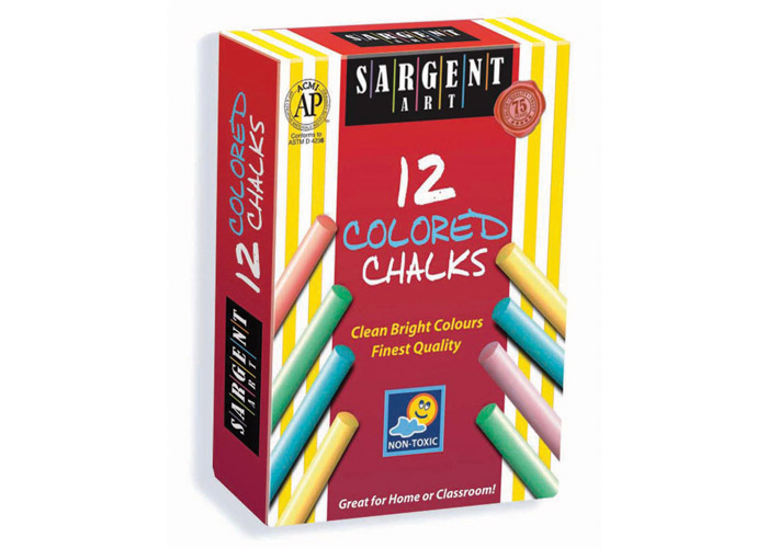 DUSTLESS COLORED CHALKS 12CT