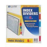 INDEX DIVIDERS 5 COLOR TABS