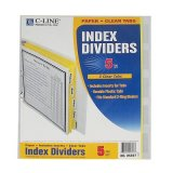 INDEX DIVIDER 5 TAB CLEAR