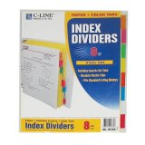 INDEX DIVIDERS 8 COLOR TABS