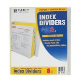 INDEX DIVIDERS 8 CLEAR TABS