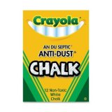 CRAYOLA ANTI DUST CHALK 12CT