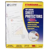 SHEET PROTECTORS CLEAR 100CT