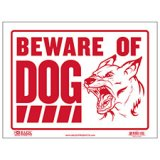 "BEWARE OF DOG SIGN 9"" X 12"""