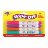 WIPE-OFF MARKERS BRIGHT COLORS 4CT