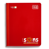 SONS COMP NOTEBOOK RED